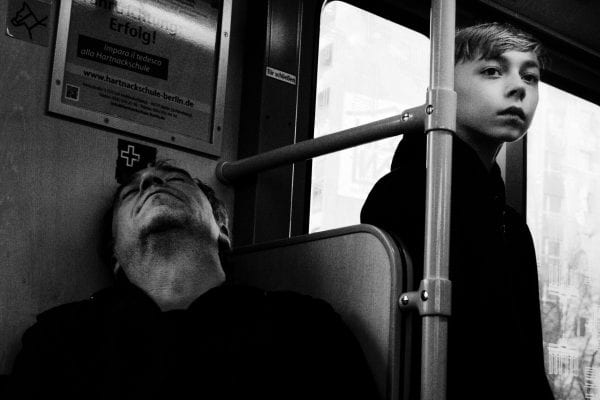 street photography of a person, by efi logginou