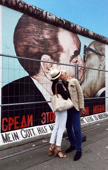 couple kissing in berlin street photography of a person, by efi logginou