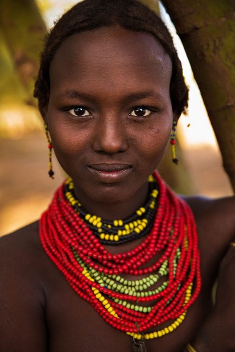 Ethiopian woman portrait photography in color by mihaela noroc, the atlas of beauty series