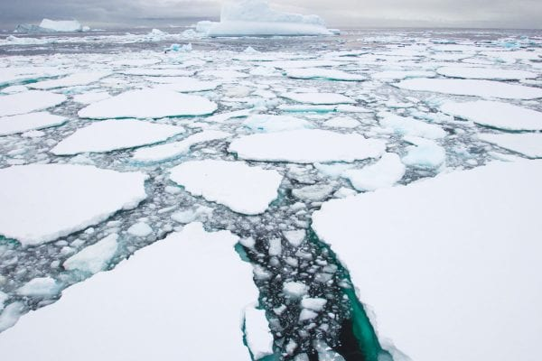 icebergs and icefields on a landscape photograph by Andrew ross