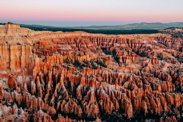 red sunlight on a landscape photograph by Andrew ross