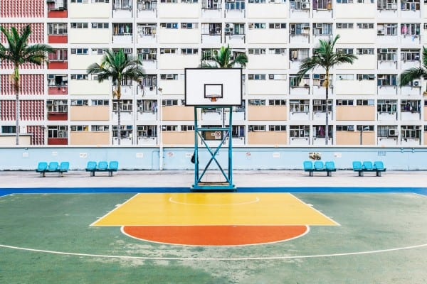 Playground Flavor - Hong Kong basketball court color photography by guillaume dutreix