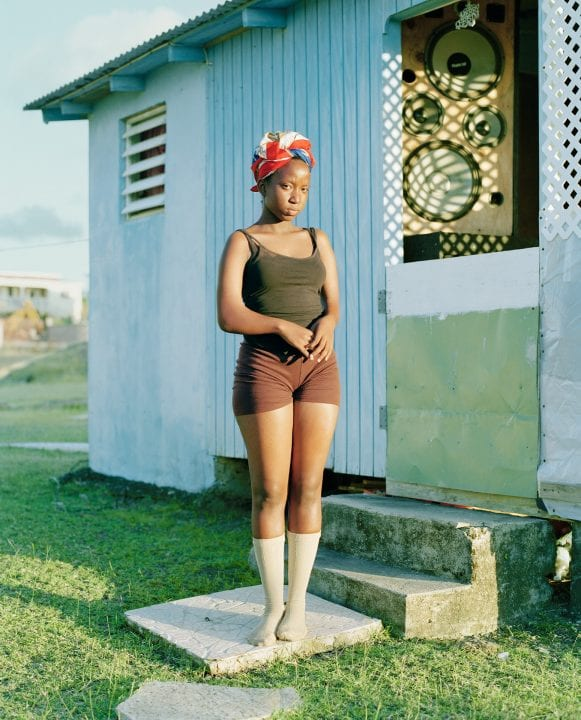 young girl color portrait photography in the Caribbean island of Nevis, by Catherine Hyland