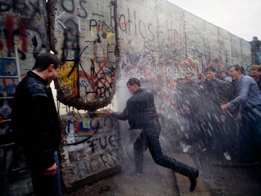 Demontage der Berliner Mauer, 1989 Deutschland