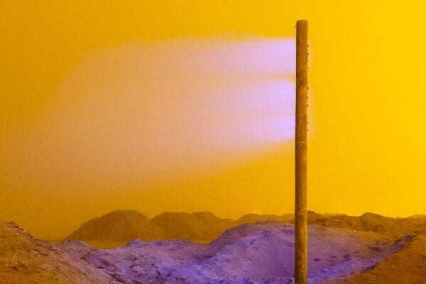 Color Photography, Landscape, Yellow Fog with Purple light