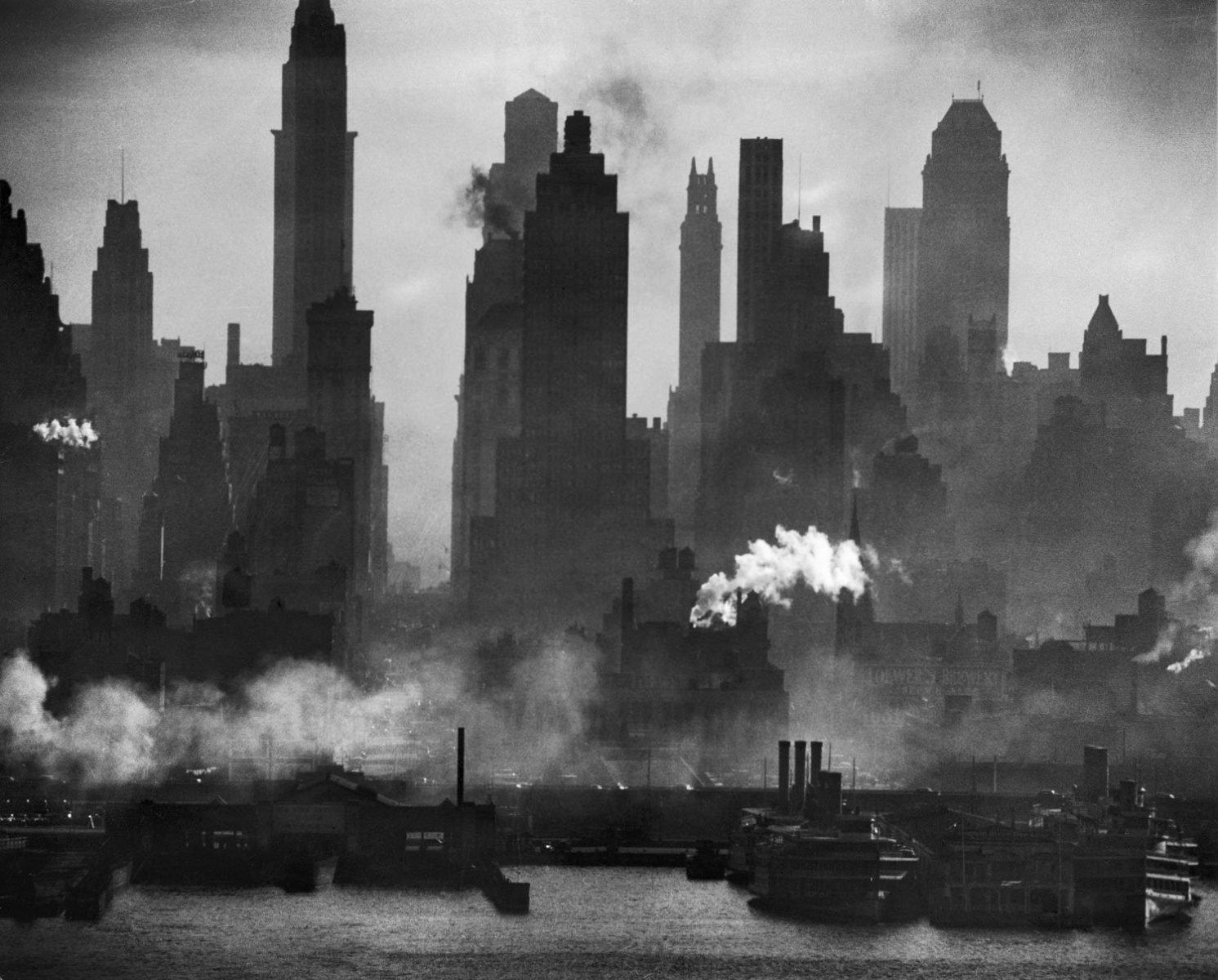 Landschaftsfotografie New York über den Hudson, NYC, von Andreas Feininger