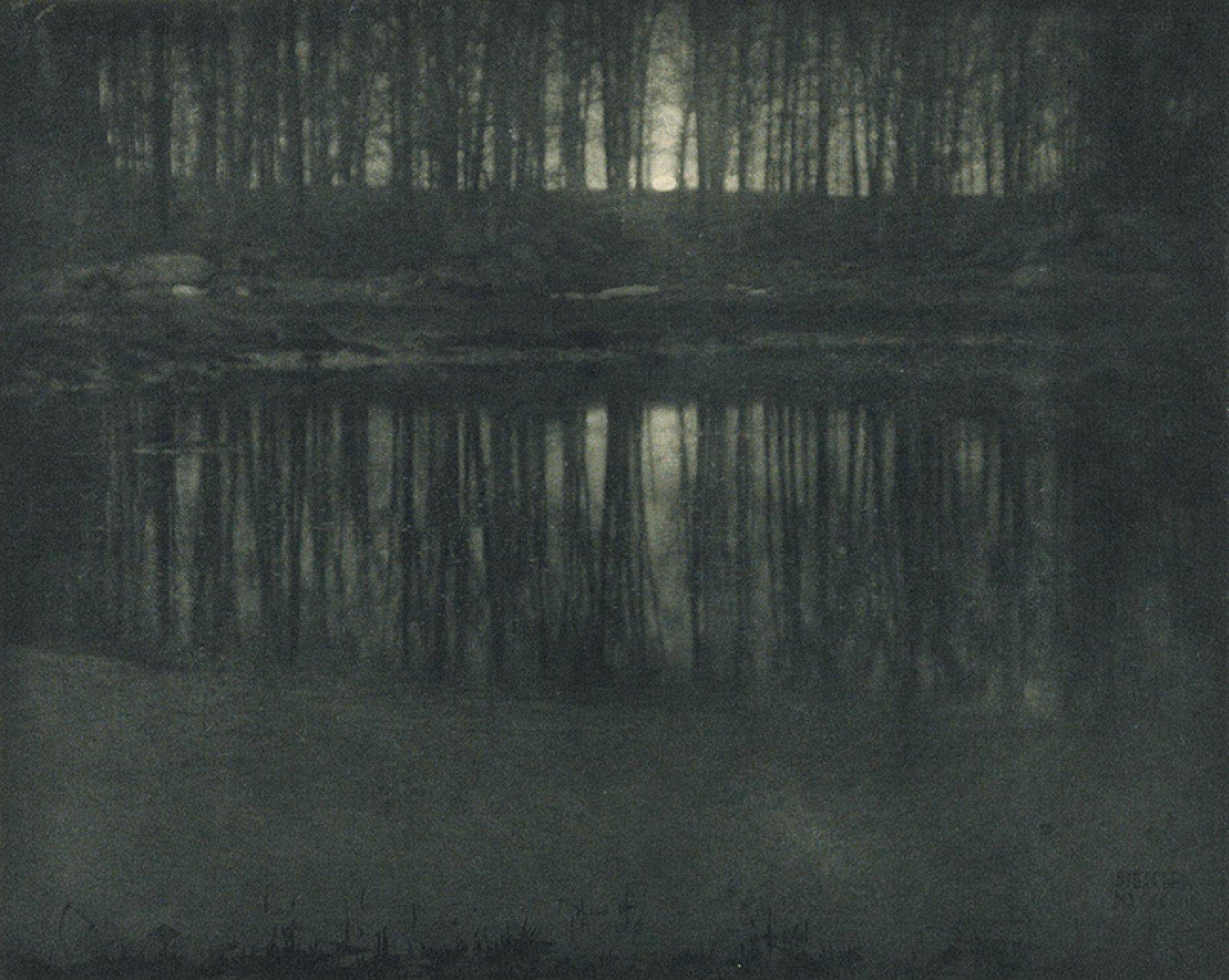 Mondschein: Der Teich, 1904 © Edward Steichen Geschichte der Landschaftsfotografie
