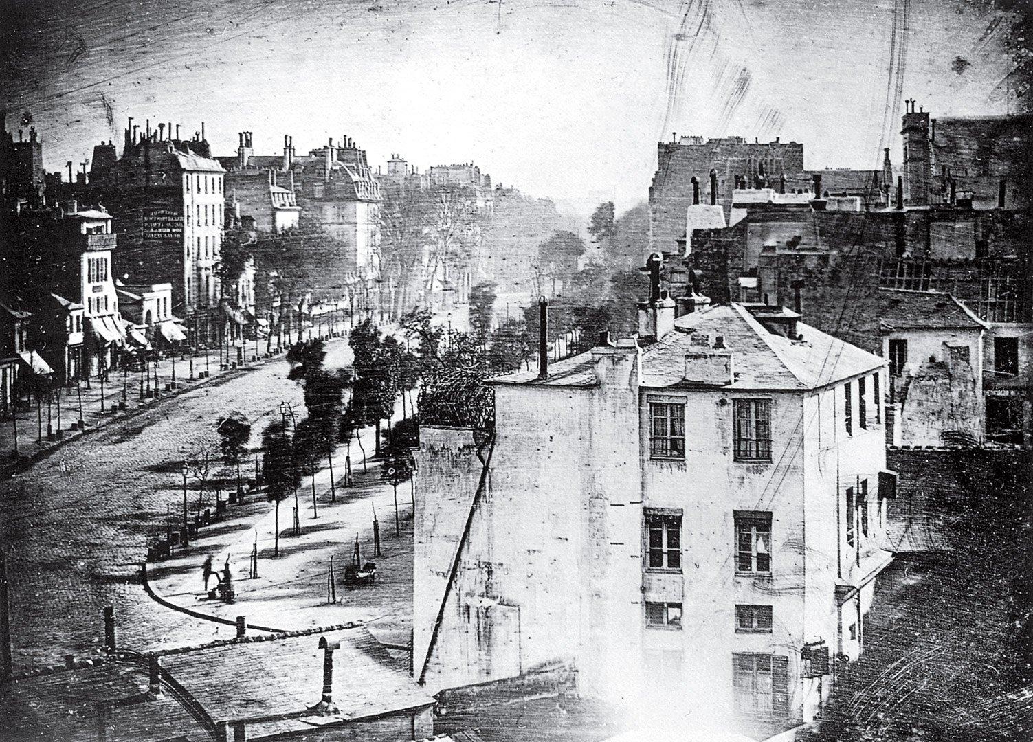 Boulevard du Temple, Paris, Frankreich, 1839 © Louis Daguerre Geschichte der Landschaftsfotografie
