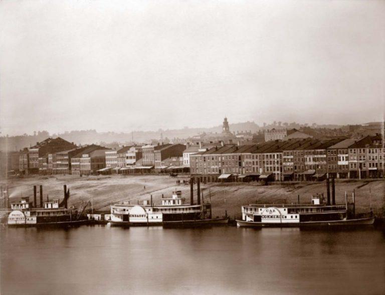 Ohio River in Newport, Kentucky 1848 © Charles Fontayne / WS Porter Geschichte der Landschaftsfotografie