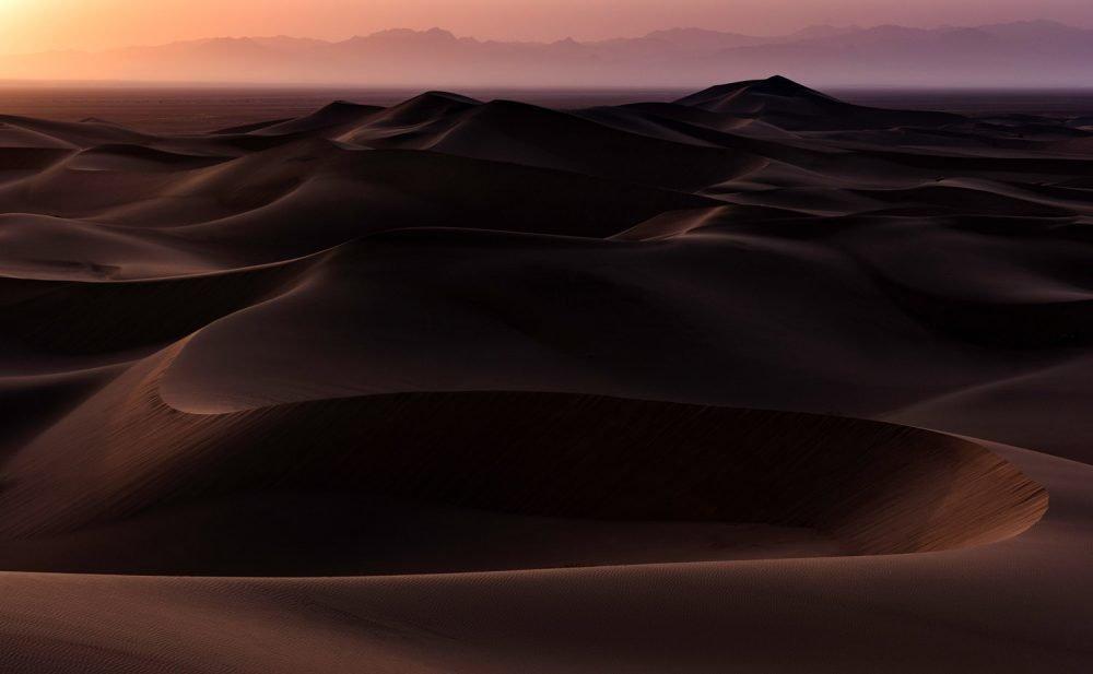 Landschaftsfotografie, Wüsten um Yazd im Zentraliran, mit Nikon D810 70-200 mm 2.8: XNUMX-Objektiv