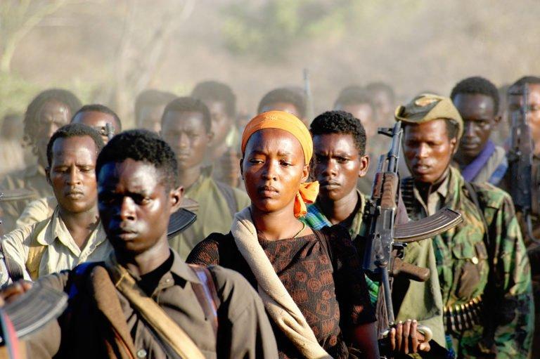 Les rebelles de l'OLF se regroupent dans le nord du Kenya, 2006, par Jonathan Alpeyrie