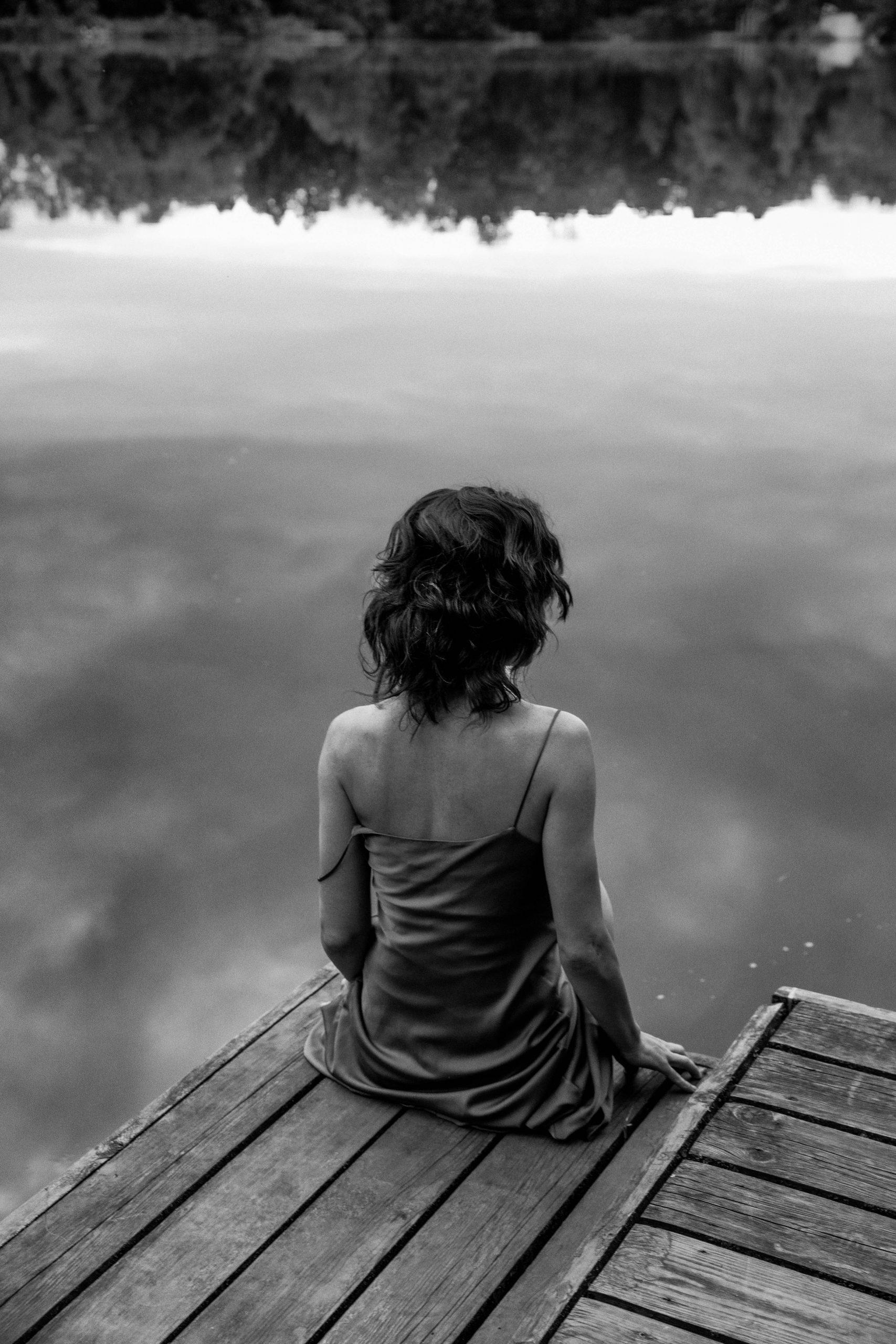 Black & white fotografia, ritratto, corpo, donna, outdoor, moda