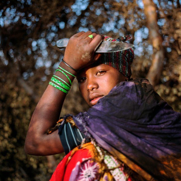 Fotografía en color, retrato, niña, Somalia, Nichole Sobecki