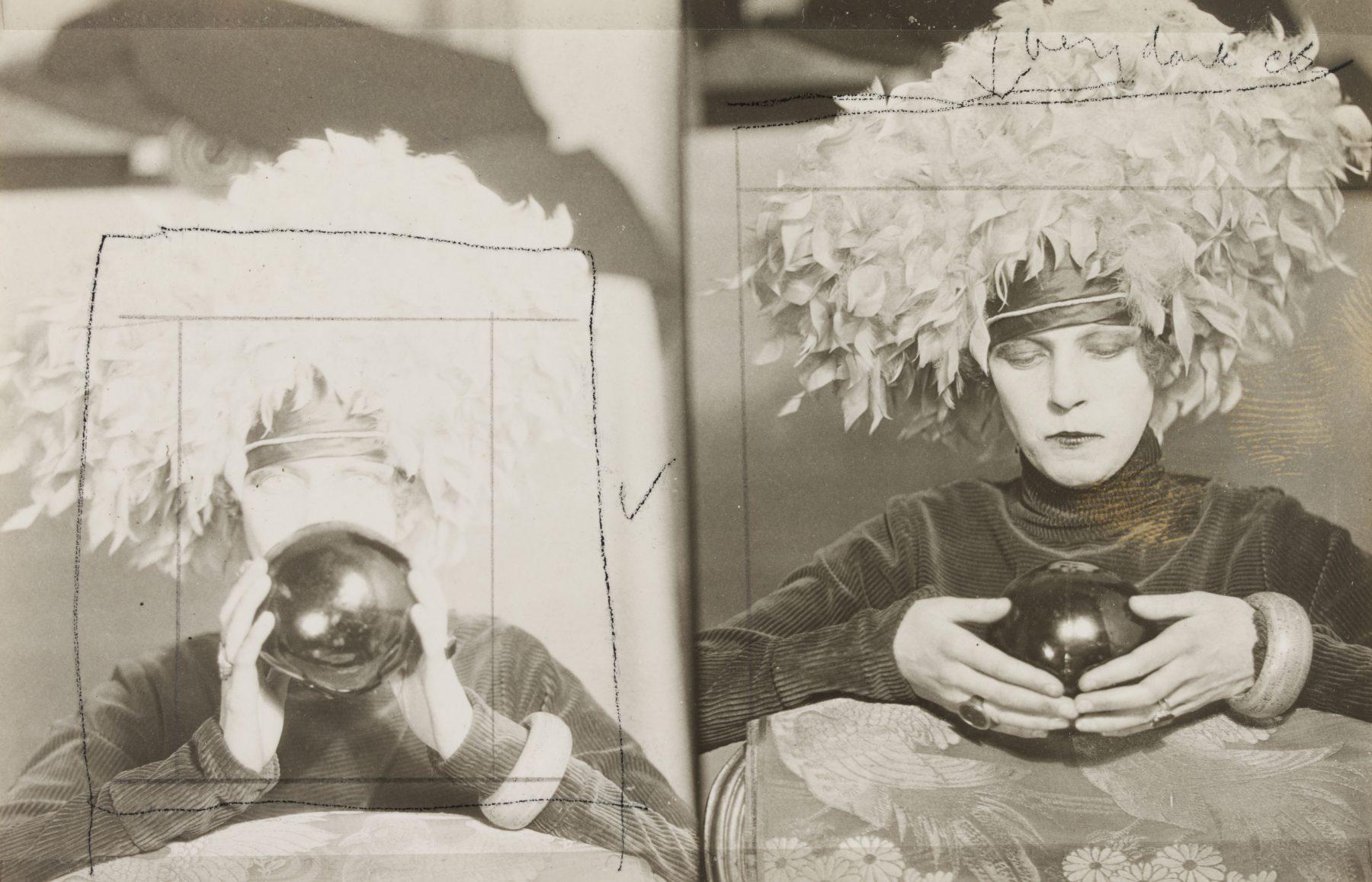 Schwarz-Weiß-Porträt von Curtis Moffat, Portrait Nancy Cunard, c. 1925