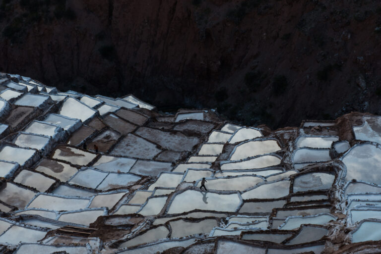 Color photo by Luis Fabini from the series Harvest. Landscape, Andes Mountains, Peru, Irrigation